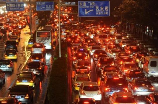 Un bouchon à Pékin, le 18 septembre 2010 Str AFP/Archives