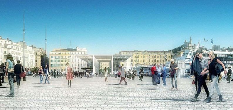 Le futur vieux port de Marseille, par Norman Foster et Michel Desvigne