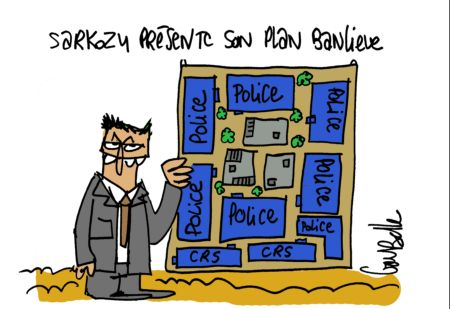 Sarkozy présente son plan banlieue