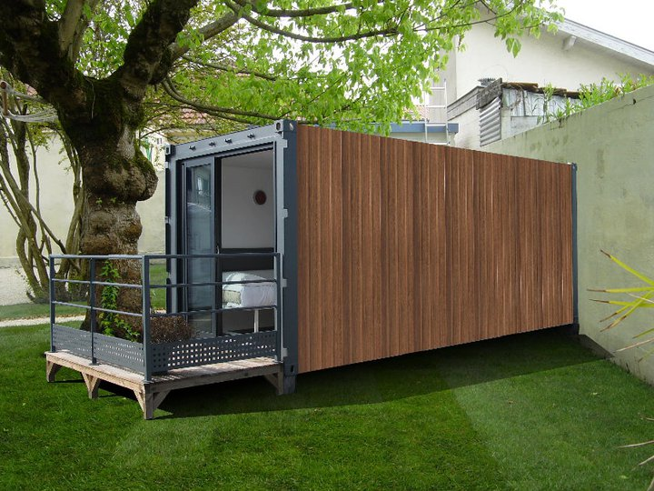 Conteneur joy studio design gallery best design for Plan amenagement container habitable