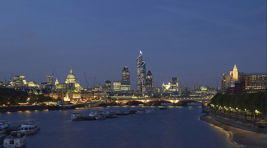 London city skyline for Tour de verre a londres