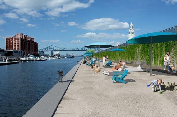 Une plage urbaine pour Montréal en 2012
