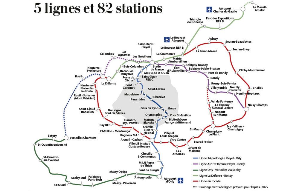 Le tracé définitif du Grand Paris Express © Le JDD