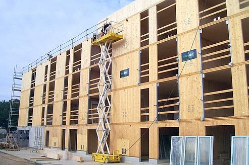 Les immeubles en bois se multiplient en france for Immeuble bureaux structure bois