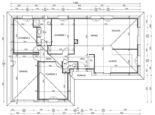 Plan de maison en tunisie plan maison petite maison - Plan cuisine tunisienne ...