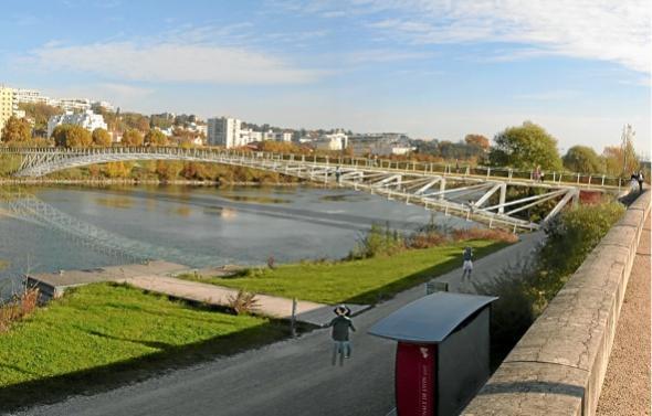 Passerelle Saint-Clair - Lyon Dietmar Feichtinger Architectes