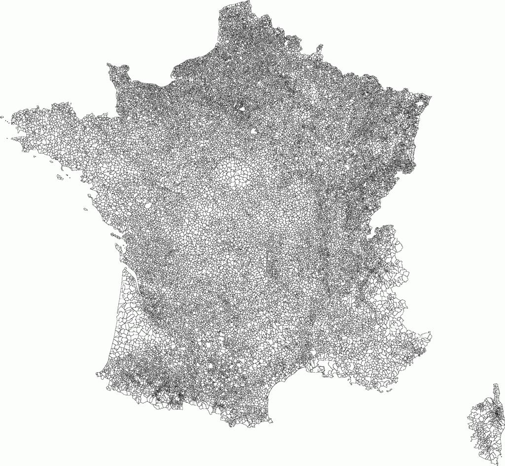carte des communes de france Et si on réduisait le nombre de communes en France | UrbaNews