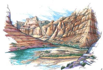 Vision d'Artiste du projet - Grand Canyon (Confluence Partners, LLC/HO)