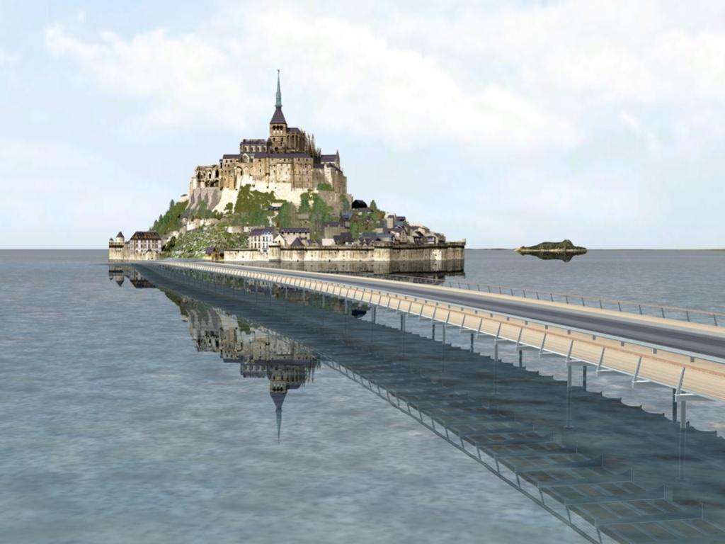 Encore deux ans de travaux pour restituer son insularit au mont saint michel - Travaux mont saint michel ...