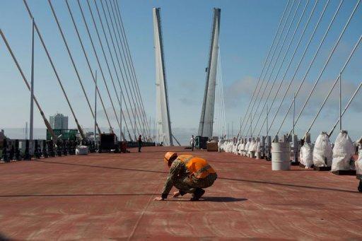Vladivostok se dote du plus long pont haubans au monde for Bureau plus martin