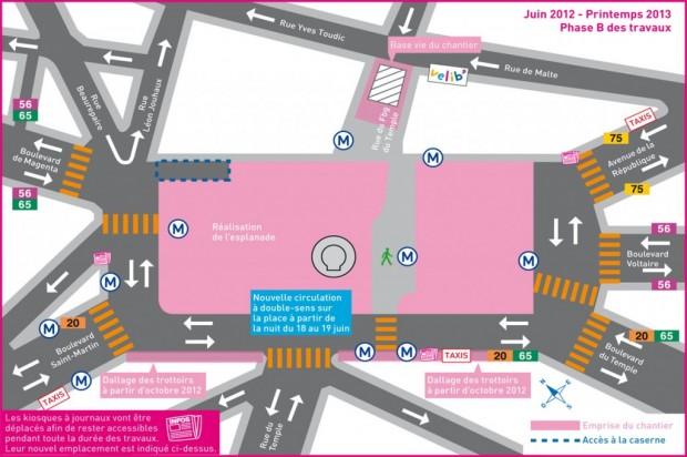 Schéma de circulation - Place de la République