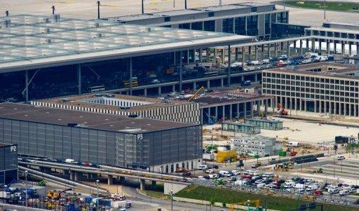 Le principal terminal de l'aéroport international Berlin-Brandebourg Willy-Brandt, le 8 mai 2012 à Schönefeld, près de Berlin.