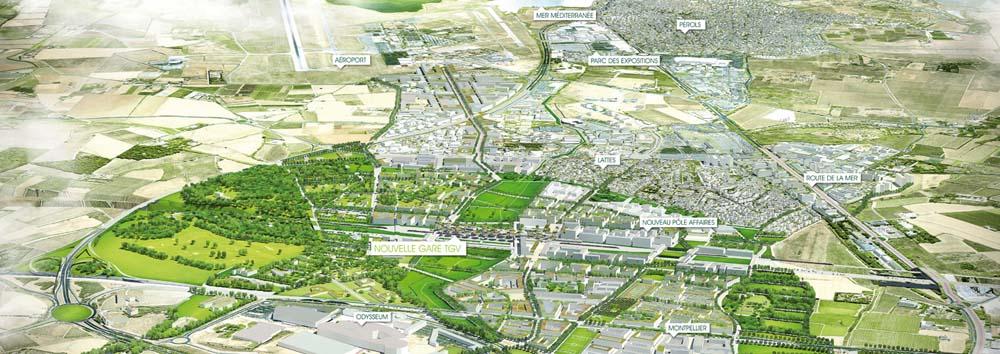 """L'opération concerne 350 ha autour de la future gare TGV qui sera construite au sud de la ville. Baptisé Oz, ce projet comprend notamment la construction de 5000 logements, d'un centre d'affaires de 350 000 m2 et l'implantation d'un """"campus créatif""""."""
