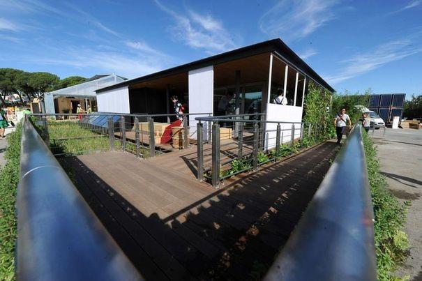 La maison solaire présentée par l'université japonaise de Chiba, le 13 septembre 2012 à Madrid.