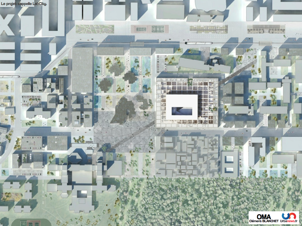 LabCity par OMA : plan masse