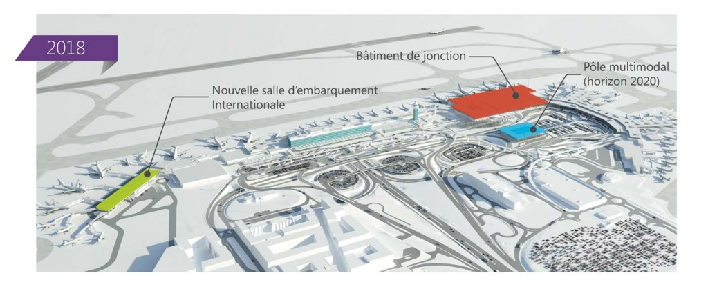 Vue générale du projet de modernisation de l'Aéroport de Paris-Orly.