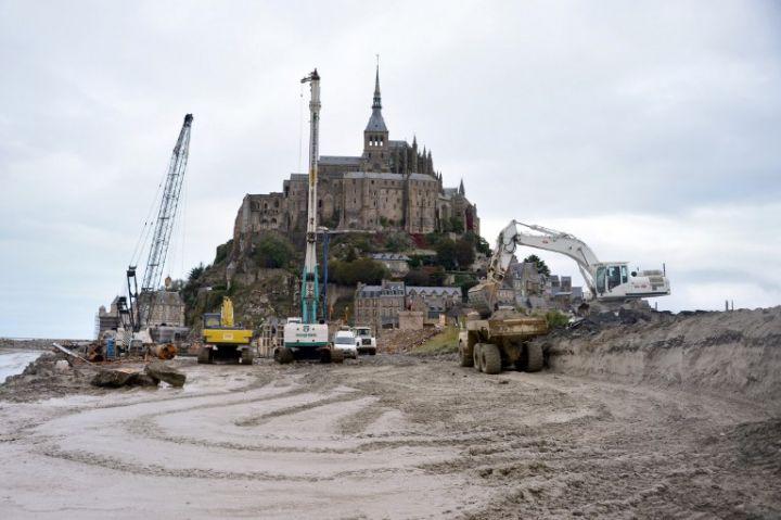 Les travaux ont d but mercredi et devrait se poursuivre jusqu 39 en 2015 - Mont saint michel travaux ...