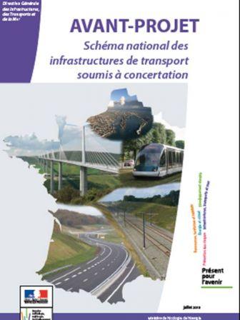 Couverture de l'avant-projet du Schéma National des Infrastructures de Transports (SNIT) soumis à la concertation.