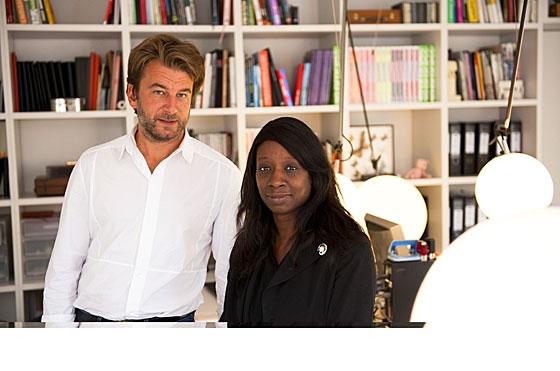 Le duo formé par Aldric et Françoise est à l'origine de Beckmann/N'Thépé, jeune agence fondée en 2002, forte d'une quinzaine de collaborateurs.