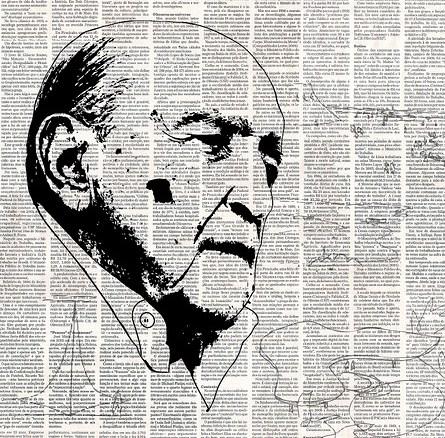 Portrait d'Oscar Niemeyer.