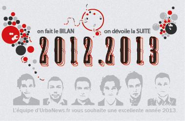 Toute l'équipe d'UrbaNews.fr vous souhaite une excellente année 2013.