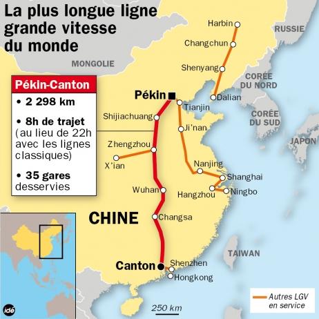 La plus longue Ligne à Grande Vitesse (LGV) du monde.