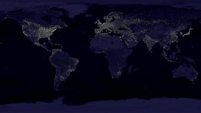 La Terre vue de nuit