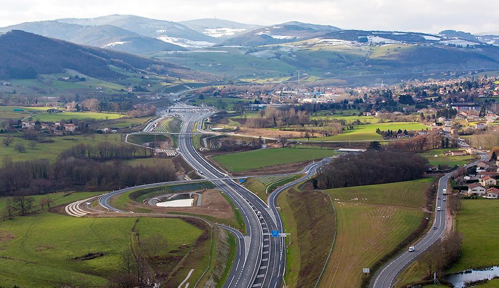 l'Autoroute A89 - Balbigny - La Tour de Salvagny