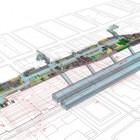 Axonométrie générale de la nouvelle gare souterraine