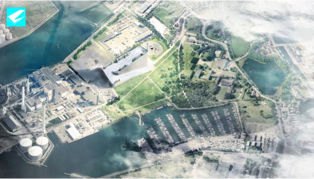 Vue aérienne du projet