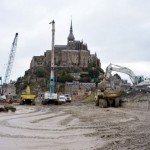 Mont Saint-Michel : la destruction de la digue a débuté