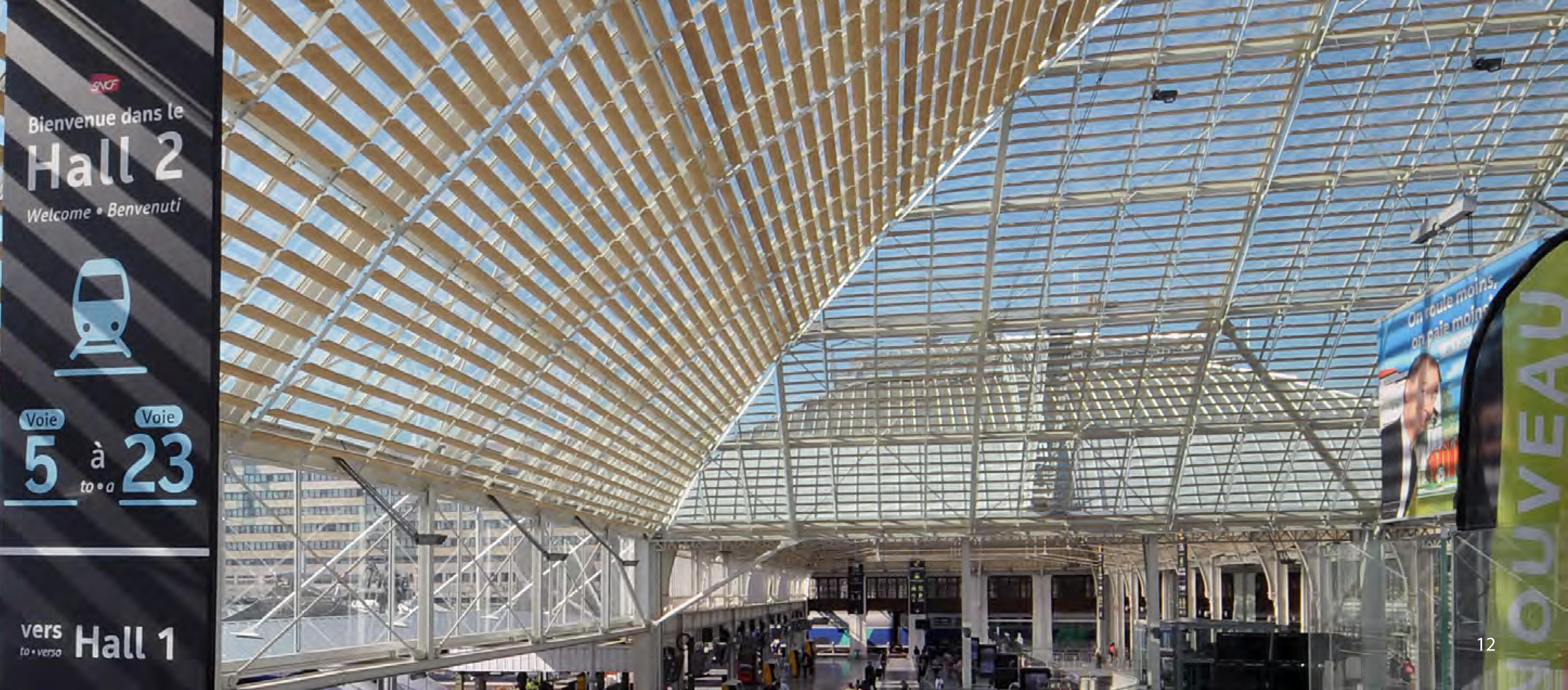 La verrière du Hall 2. Crédits photo : SNCF-AREP / Photo M. Lee Vigneau
