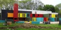 Au Havre, un «Tetris» de containers pour la nouvelle salle de spectacles