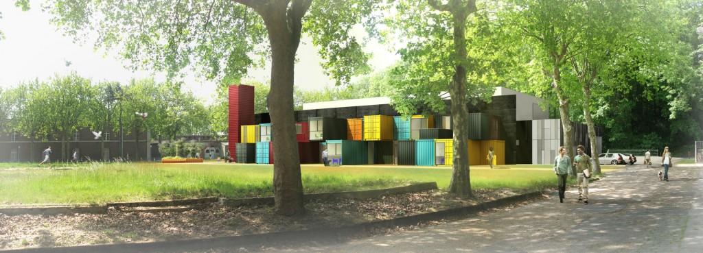 Au havre un tetris de containers pour la nouvelle salle for Tetris havre
