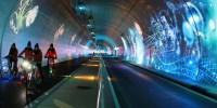 À Lyon, un tunnel spécifique pour les piétons, les vélos et les bus