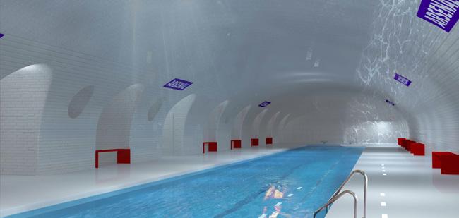 Une piscine dans le Métro Parisien ? - Proposition NKM - Manal Rachdi & Nicolas Laisné