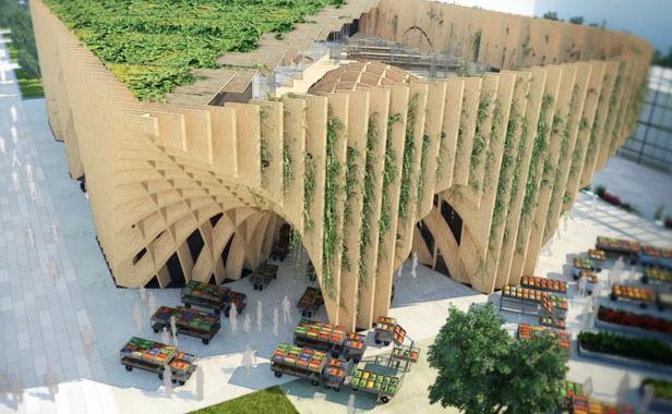 La maquette du pavillon de la France pour l'Exposition universelle de Milan en 2015. © CMC / XTU / STUDIO A. RISPAL