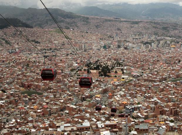 La Paz - Cable Car - Martin Alipaz/EPA