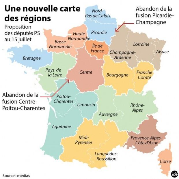 7d548934a51 Réforme territoriale   la carte des 13 régions adoptée à l Assemblée ...