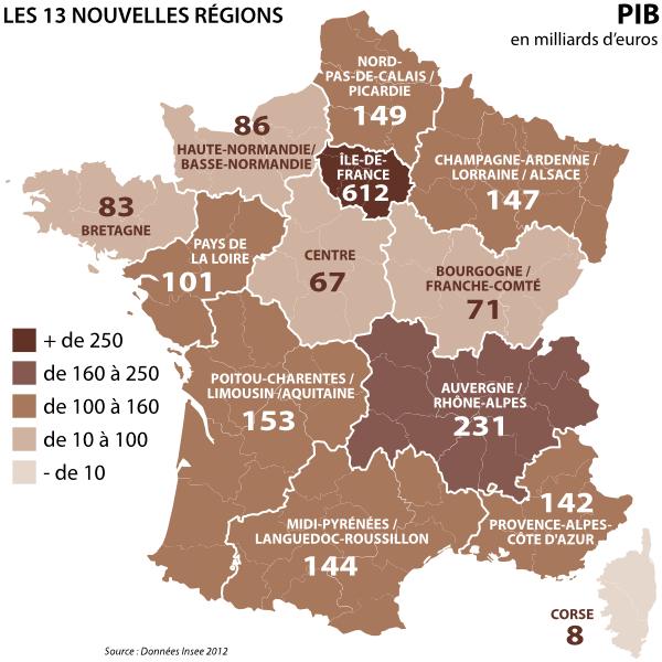 Régions PIB