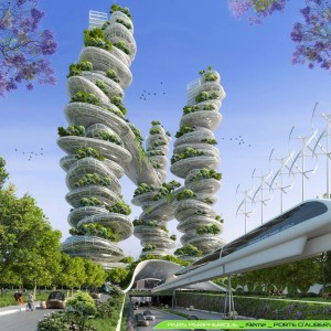 Farmscapers Towers - Porte d'Aubervilliers - Paris Smart City 2050 - © Vincent Callebaut