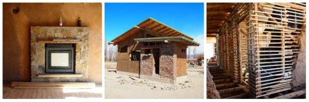 Éco-constructions approuvées par la municipalité de Uspallata, Argentine