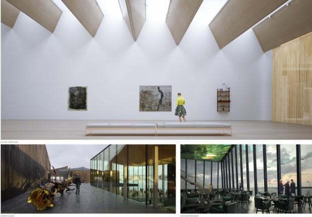 Vues sur l'intérieur des pavillons / © MKA / Artefactorylab