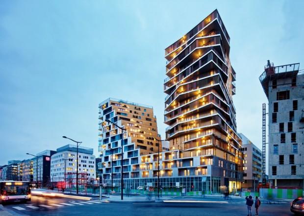 Le secteur Masséna- Bruneseau dans le 13ème arrondissement accueille désormais un bâtiment remarquable / © Takuji Shimmura