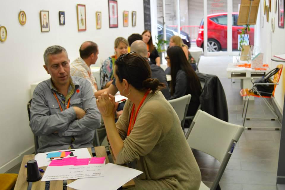 Atelier de créativité organisé par le réseau Cowopy à Valls (Espagne)