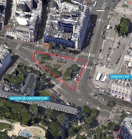 Plan de situation du site de l'appel à projet CLIMAX 2015