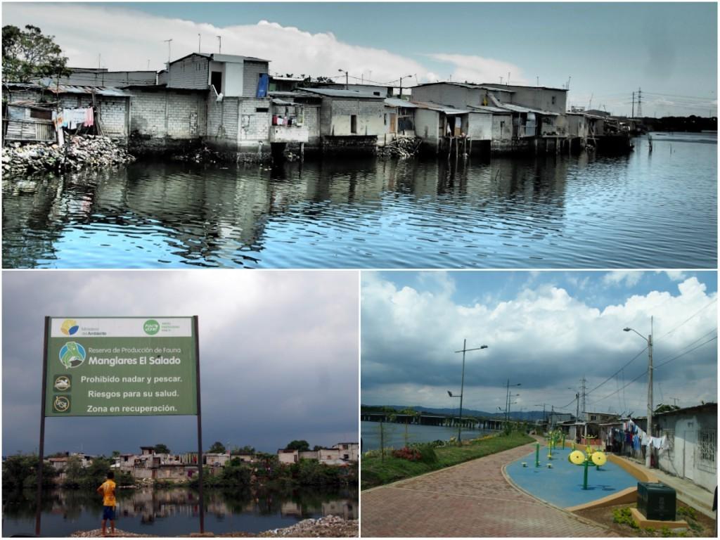Logements consolidés sur l'Estero Salado et progression du parc linéaire, Guayaquil