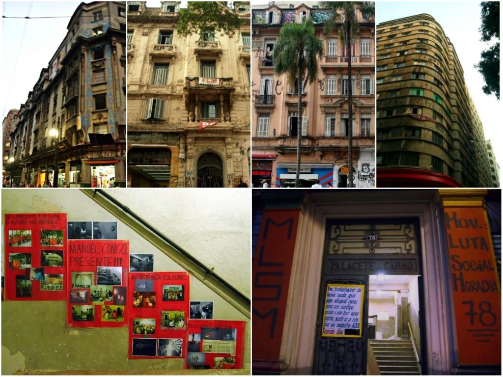 Immeubles reconquis par des mouvements de luttes pour le logement, São Paulo et Rio de Janeiro