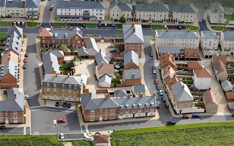 Vue aérienne des îlots de Pondbury / © Télegraph.co.uk