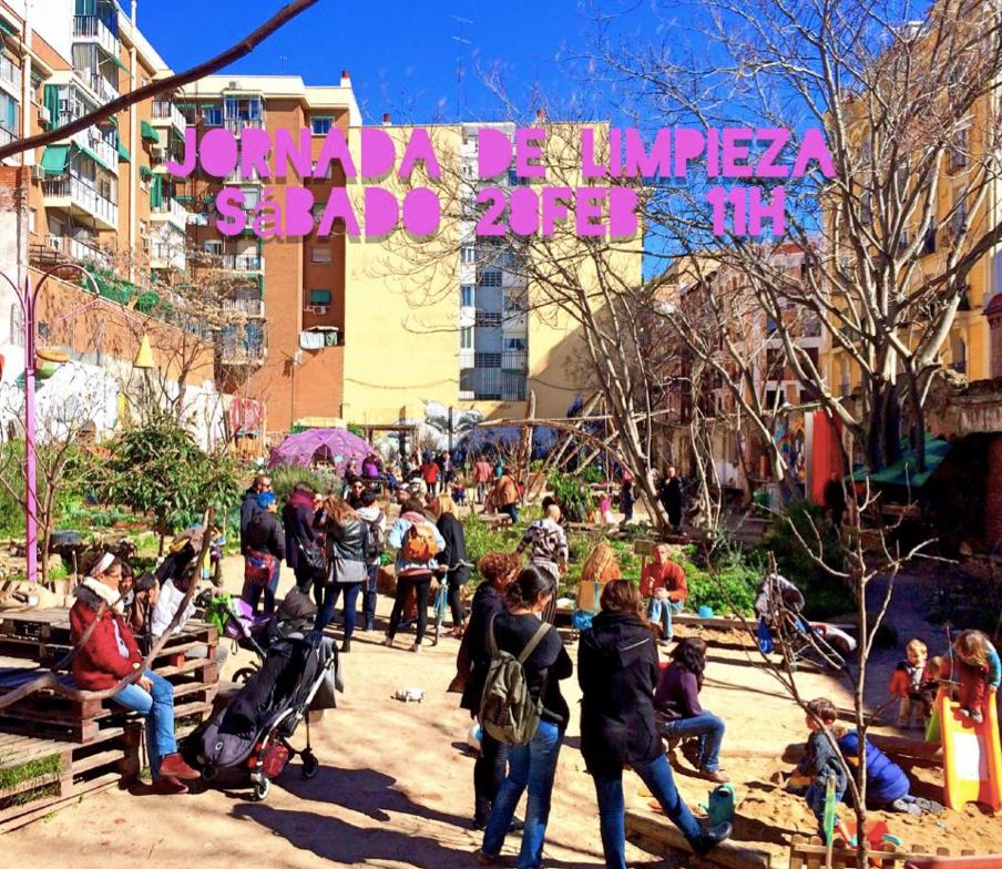 Les jardins partagés de « Esta es una Plaza » (source : https://www.facebook.com/estaesunaplaza)